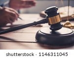 law theme  mallet of the judge  ... | Shutterstock . vector #1146311045