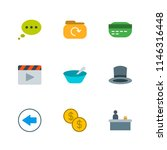 modern simple vector icon set.... | Shutterstock .eps vector #1146316448