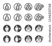 people and population icon set | Shutterstock .eps vector #1146320768
