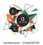 vector triangle abstract... | Shutterstock .eps vector #1146320792