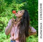 seductive appetite. woman full... | Shutterstock . vector #1146322448