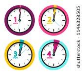 1 2 3 4 minutes clock. vector... | Shutterstock .eps vector #1146328505