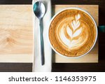 time to relax with a coffee ... | Shutterstock . vector #1146353975