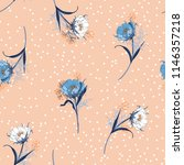 beautiful pastel blowing garden ... | Shutterstock .eps vector #1146357218