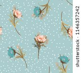 beautiful vintage pastel... | Shutterstock .eps vector #1146357242