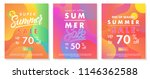 summer sale banners with bright ... | Shutterstock .eps vector #1146362588