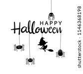 happy halloween greeting card... | Shutterstock .eps vector #1146368198