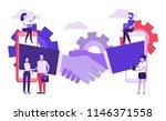 online partnership concept.... | Shutterstock .eps vector #1146371558