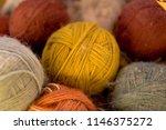 balls of alpaca wool  made by... | Shutterstock . vector #1146375272