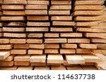 selection of timber material  ... | Shutterstock . vector #114637738