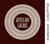 african pattern logo vector... | Shutterstock .eps vector #1146379718