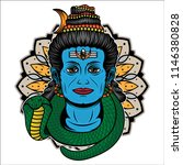 shiva traditional tattoo ...   Shutterstock .eps vector #1146380828