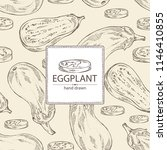 background with eggplant  full... | Shutterstock .eps vector #1146410855