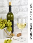 fragrant delicious grapes and a ... | Shutterstock . vector #1146417128