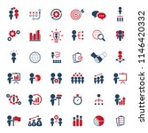 business strategy icons set. | Shutterstock .eps vector #1146420332