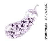 creative vector eggplant... | Shutterstock .eps vector #1146435332