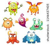 cute cartoon monsters | Shutterstock .eps vector #1146437405