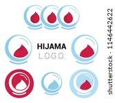 hijama logo. logo for person...   Shutterstock .eps vector #1146442622