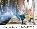 wedding banquet or gala dinner. ... | Shutterstock . vector #1146447392