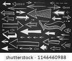 hand drawn left and right... | Shutterstock .eps vector #1146460988