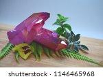 pink aura quartz cluster  rose...   Shutterstock . vector #1146465968