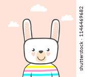 set of cute animals. character. ... | Shutterstock .eps vector #1146469682