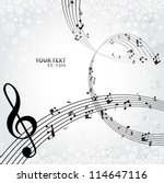 musical snow background