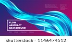 abstract flow background. wave... | Shutterstock .eps vector #1146474512