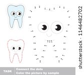 smiley tooth smiling. dot to... | Shutterstock .eps vector #1146482702