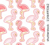 seamless pattern with pink... | Shutterstock .eps vector #1146495362