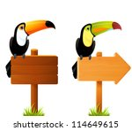 illustration of colorful toucan ... | Shutterstock .eps vector #114649615