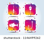 fishing icons. fish with... | Shutterstock .eps vector #1146499262