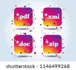 document icons. file extensions ... | Shutterstock .eps vector #1146499268