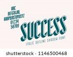 narrow font called success...   Shutterstock .eps vector #1146500468