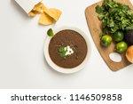 black bean soup food preparation | Shutterstock . vector #1146509858