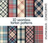set of seamless tartan patterns | Shutterstock .eps vector #1146518945