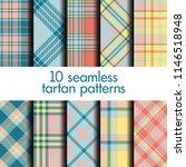 set of seamless tartan pattern | Shutterstock .eps vector #1146518948