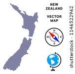 dot new zealand map. abstract... | Shutterstock .eps vector #1146522962