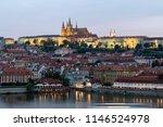 prague  czech republic. charles ... | Shutterstock . vector #1146524978