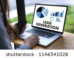 lead generation  business... | Shutterstock . vector #1146541028