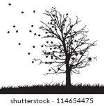 Tree Silhouette With Fallen...