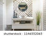 interior of bathroom with sink... | Shutterstock . vector #1146552065