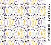 purple lavender leaf stem... | Shutterstock .eps vector #1146556682