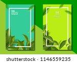 green tea leaves vector nature... | Shutterstock .eps vector #1146559235