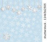 christmas illustration with... | Shutterstock .eps vector #1146562505