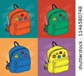 colorful pop art vector...   Shutterstock .eps vector #1146580748