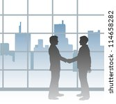 two big city business people... | Shutterstock . vector #114658282