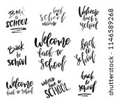 welcome back to school logo set.... | Shutterstock .eps vector #1146589268