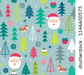 seamless of cute santa claus ... | Shutterstock .eps vector #1146600575
