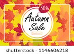 autumn sale template with fall... | Shutterstock .eps vector #1146606218